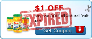 $1.00 off any two DOLE All Natural Fruit Jars