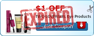 $1.00 off TWO COVERGIRL Eye Products