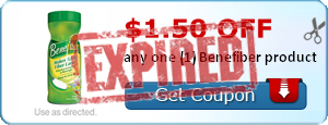 $1.50 off any one (1) Benefiber product