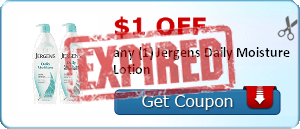 $1.00 off any (1) Jergens Daily Moisture Lotion
