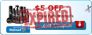$5.00 off L'Oreal Paris Products