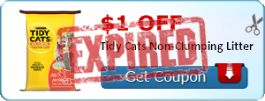 $1.00 off Tidy Cats Non-Clumping Litter