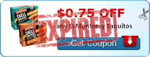 $0.75 off any El Monterey Taquitos