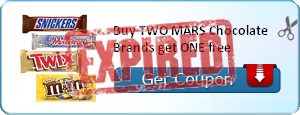 Buy TWO MARS Chocolate Brands get ONE free