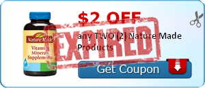 $2.00 off any TWO (2) Nature Made Products