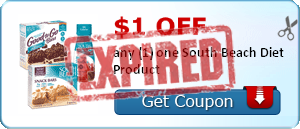 $1.00 off any (1) one South Beach Diet Product