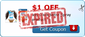 $1.00 off any Glade Sense & Spray product