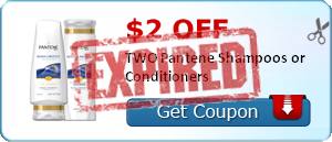 $2.00 off TWO Pantene Shampoos or Conditioners