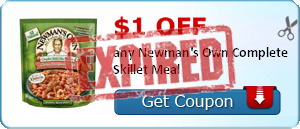 $1.00 off any Newman's Own Complete Skillet Meal