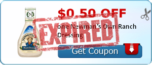 $0.50 off one Newman's Own Ranch Dressing