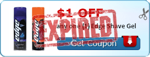 $1.00 off any one (1) Edge Shave Gel