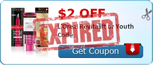 $2.00 off L'Oreal Revitalift or Youth Code