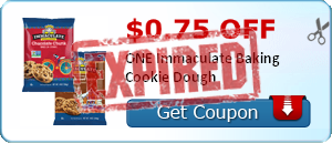 $0.75 off ONE Immaculate Baking Cookie Dough