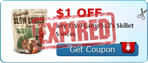 $1.00 off any TWO Campbell's Skillet Sauces