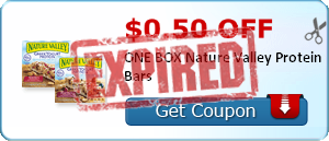 $0.50 off ONE BOX Nature Valley Protein Bars