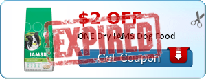 $2.00 off ONE Dry IAMS Dog Food