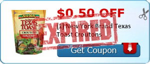 $0.50 off (1) New York Brand Texas Toast Croutons