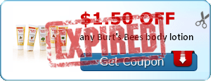 $1.50 off any Burt's Bees body lotion