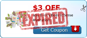 $3.00 off any Burt's Bees Intense Hydration