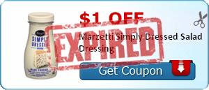 $1.00 off Marzetti Simply Dressed Salad Dressing