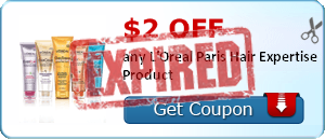 $2.00 off any L'Oreal Paris Hair Expertise Product