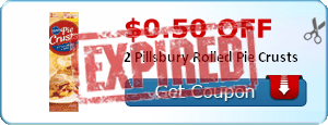 $0.50 off 2 Pillsbury Rolled Pie Crusts