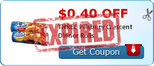 $0.40 off THREE Pillsbury Crescent Dinner Rolls