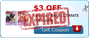 $3.00 off two EASY-BAKE ULTIMATE OVEN refills