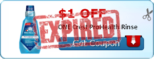 $1.00 off ONE Crest ProHealth Rinse