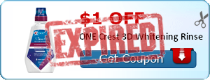 $1.00 off ONE Crest 3D Whitening Rinse