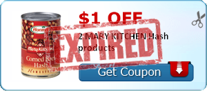 $1.00 off 2 MARY KITCHEN Hash products