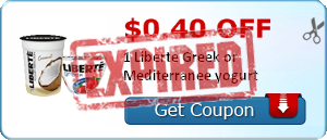 $0.40 off 1 Liberte Greek or Mediterranee yogurt