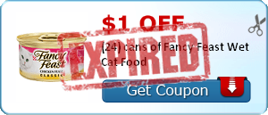 $1.00 off (24) cans of Fancy Feast Wet Cat Food
