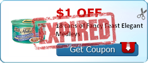 $1.00 off 18 cans of Fancy Feast Elegant Medleys