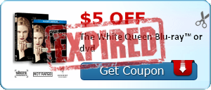 $5.00 off The White Queen Blu-ray™ or dvd