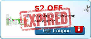 $2.00 off any Simple Cleanser or Moisturizer