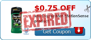 $0.75 off any Degree Men MotionSense product