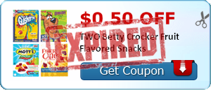 $0.50 off TWO Betty Crocker Fruit Flavored Snacks