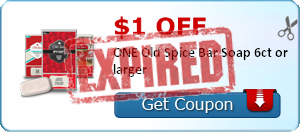 $1.00 off ONE Old Spice Bar Soap 6ct or larger