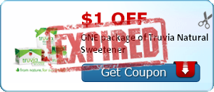 $1.00 off ONE package of Truvia Natural Sweetener