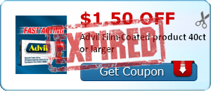 $1.50 off Advil Film-Coated product 40ct or larger
