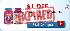 $1.00 off Flintstones™ multivitamin or supplement