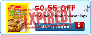 $0.55 off any Two Sun-Bird Seasonings