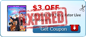 $3.00 off ON ONE DVD Terry Fator Live in Concert