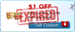 $1.00 off 2 Rachael Ray Nutrish Naturally Delish