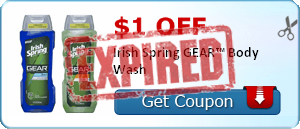 $1.00 off Irish Spring GEAR™ Body Wash