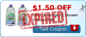 $1.50 off TWO SB Automatic Shower Cleaner refills