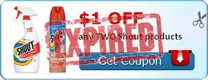 $1.00 off any TWO Shout products