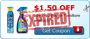 $1.50 off any TWO Pledge Furniture products