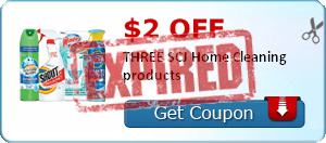 $2.00 off THREE SCJ Home Cleaning products